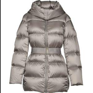 Add Down puff fur hooded jacket